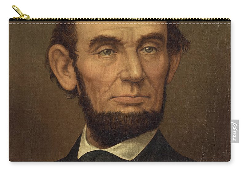 abraham Lincoln Carry-all Pouch featuring the photograph President Of The United States Of America - Abraham Lincoln by International Images
