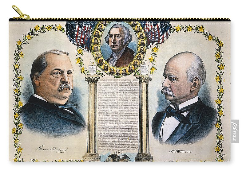1892 Carry-all Pouch featuring the photograph Presidential Campaign, 1892 by Granger