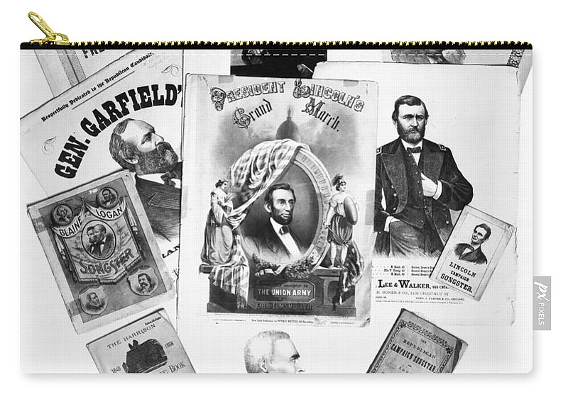 19th Century Carry-all Pouch featuring the photograph Presidential Campaigns by Granger