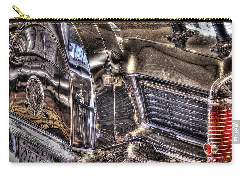 Carry-all Pouch featuring the photograph Presidential Lincoln Tail Lights Dearborn Mi by Nicholas Grunas