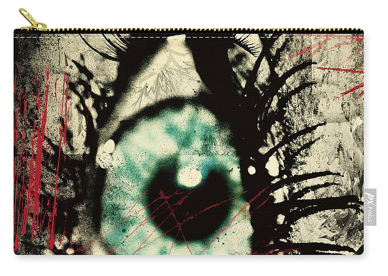 Art Photographs Photographs Framed Prints Carry-all Pouch featuring the photograph Presleys Scratches by The Artist Project