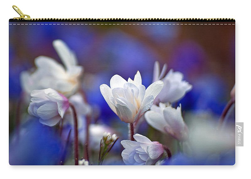 Spring Carry-all Pouch featuring the photograph Pretty In White by Tikvah's Hope