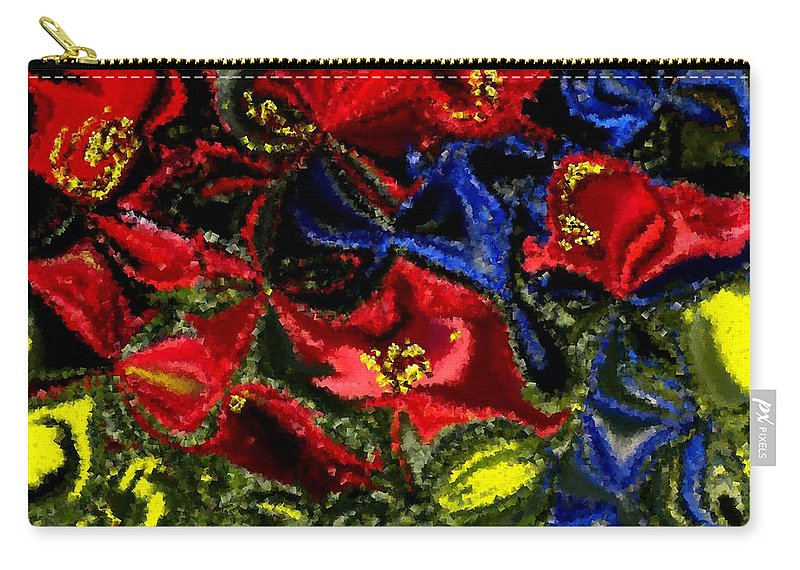 Garden Carry-all Pouch featuring the painting Primary Garden by Renate Nadi Wesley