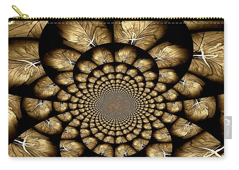 Abstract Carry-all Pouch featuring the photograph Primrose Design by Chris Berry
