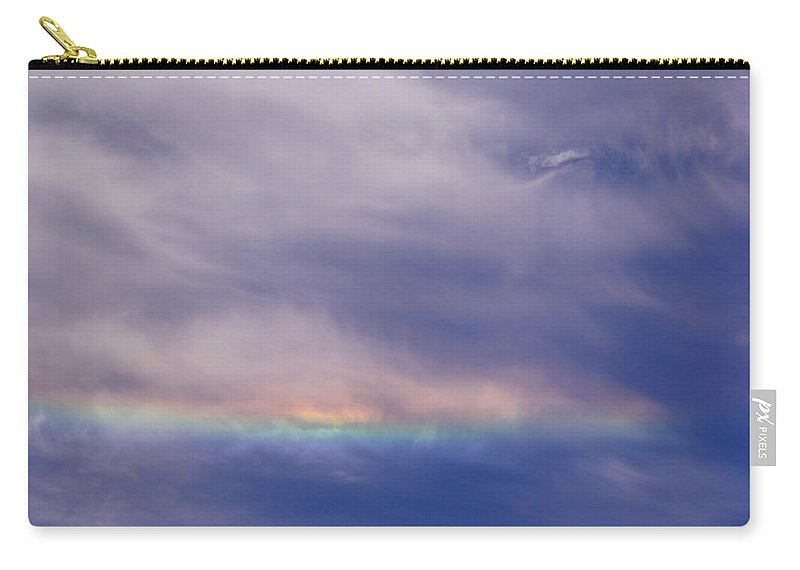 Prismatic Carry-all Pouch featuring the photograph Prismatic Color In The Sky by Mick Anderson