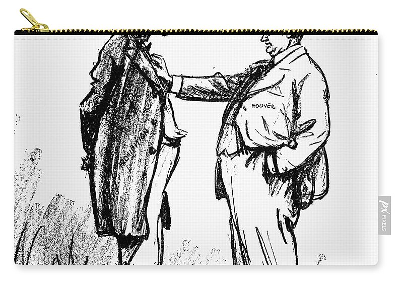 18th Amendment Carry-all Pouch featuring the photograph Prohibition Cartoon, 1928 by Granger