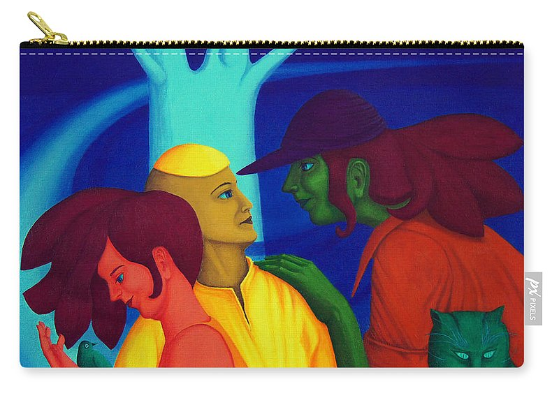 Oil Carry-all Pouch featuring the painting Prompt by Andrzej Pietal
