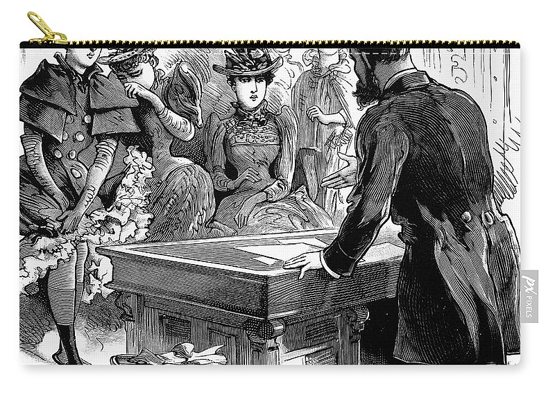 1892 Carry-all Pouch featuring the photograph Prostitution, 1892 by Granger