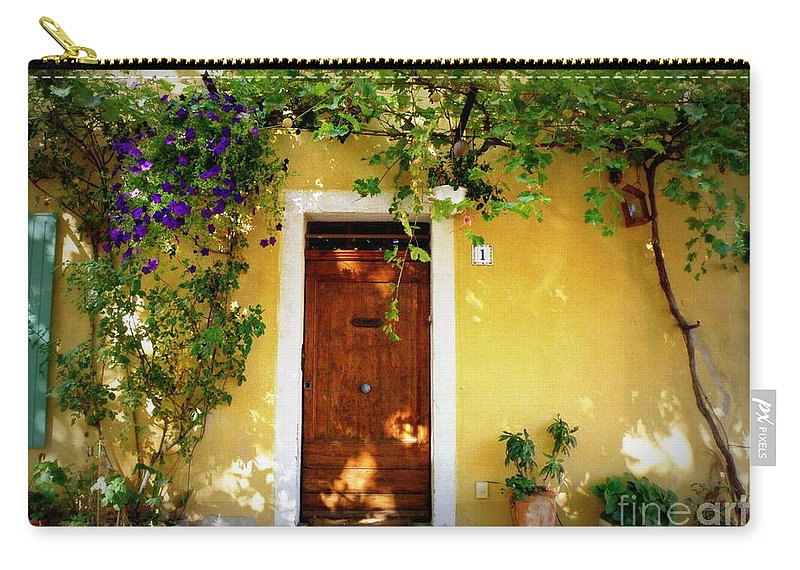 Door Carry-all Pouch featuring the photograph Provence Door Number 1 by Lainie Wrightson