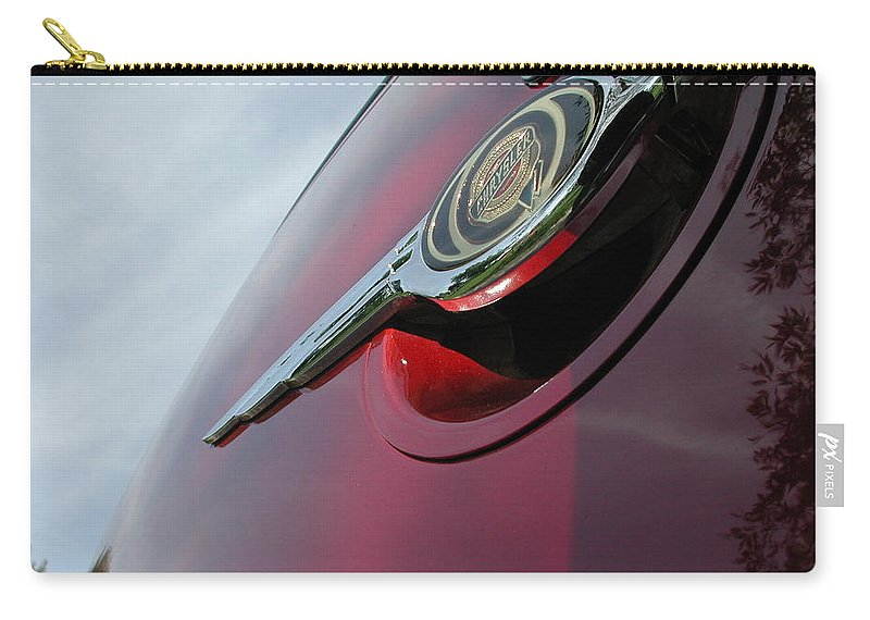 Pt Cruiser Carry-all Pouch featuring the photograph Pt Cruiser Emblem by Thomas Woolworth