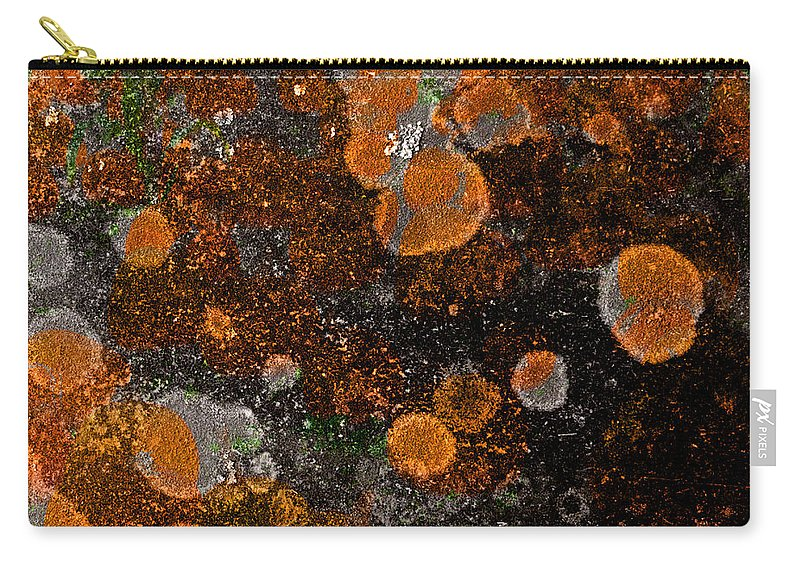 Pumpkin Carry-all Pouch featuring the photograph Pumpkin Abstract Square by John Stephens