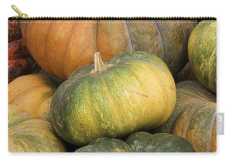 Pumpkin Carry-all Pouch featuring the photograph Pumpkin Farm by Jim And Emily Bush