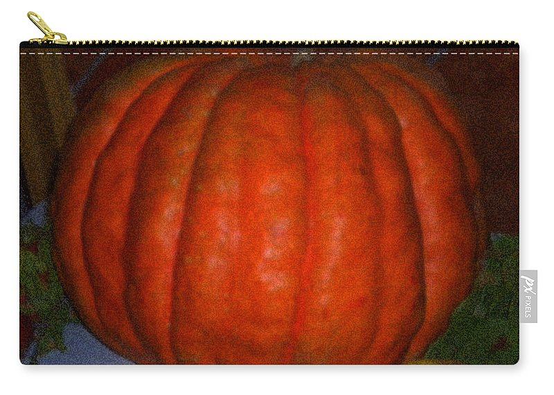 Colette Carry-all Pouch featuring the painting Pumpkin In Spain by Colette V Hera Guggenheim