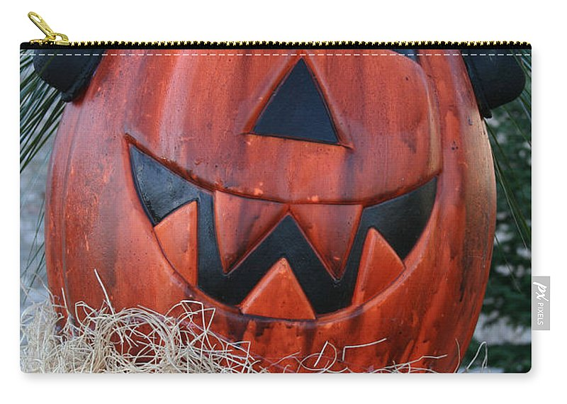 Fall Carry-all Pouch featuring the photograph Pumpkinhead by Susan Herber