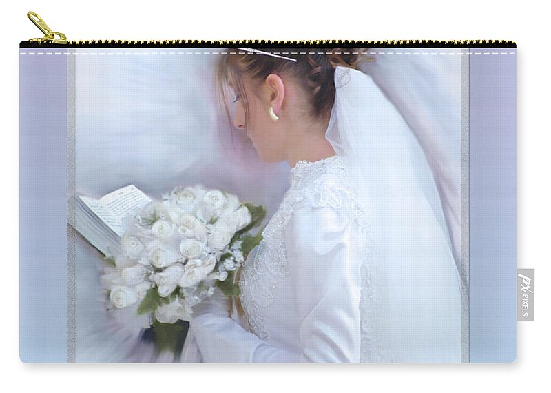 Bride Of Christ Carry-all Pouch featuring the painting Pure Spotless Bride by Constance Woods