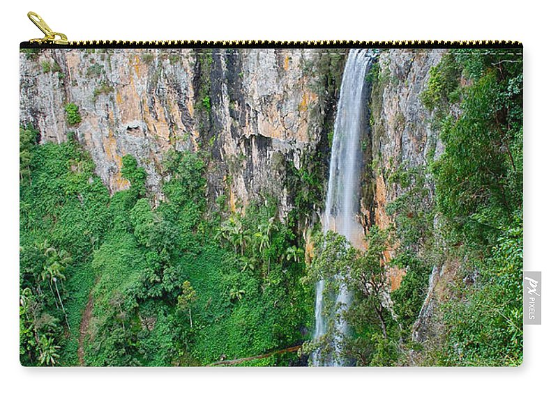 Purlingbrook Falls Carry-all Pouch featuring the photograph Purlingbrook Falls In Australia by Eric Tressler