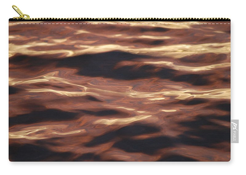 Purple Carry-all Pouch featuring the photograph Purple Abstract Water by Michael Merry