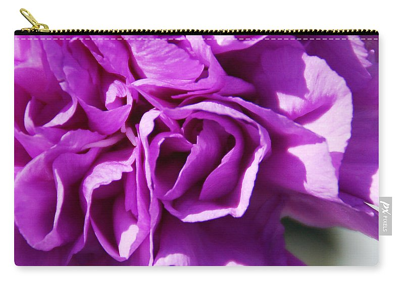 Flower Carry-all Pouch featuring the photograph Purple Carnation by Aimee L Maher ALM GALLERY