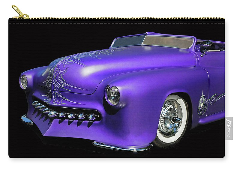 Car Carry-all Pouch featuring the photograph Purple Customized by Dave Mills