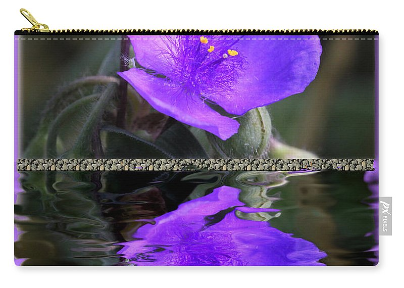 Tradescantia 'purple Profusion'. Common Name: Spiderwort Carry-all Pouch featuring the photograph Purple Elegance - Spider Wort by Ericamaxine Price