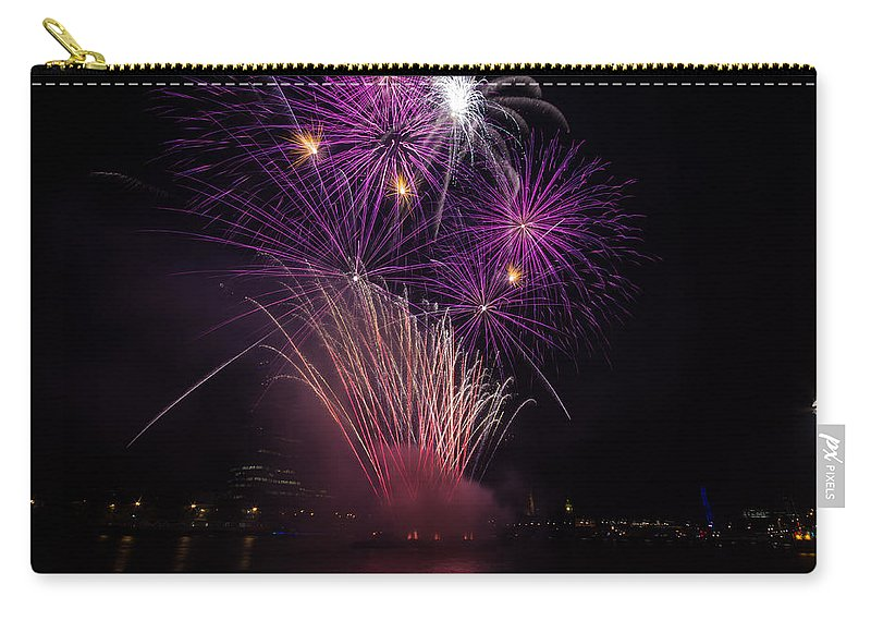 Dawn Oconnor Dawnoconnorphotos@gmail.com Carry-all Pouch featuring the photograph Purple Fireworks by Dawn OConnor