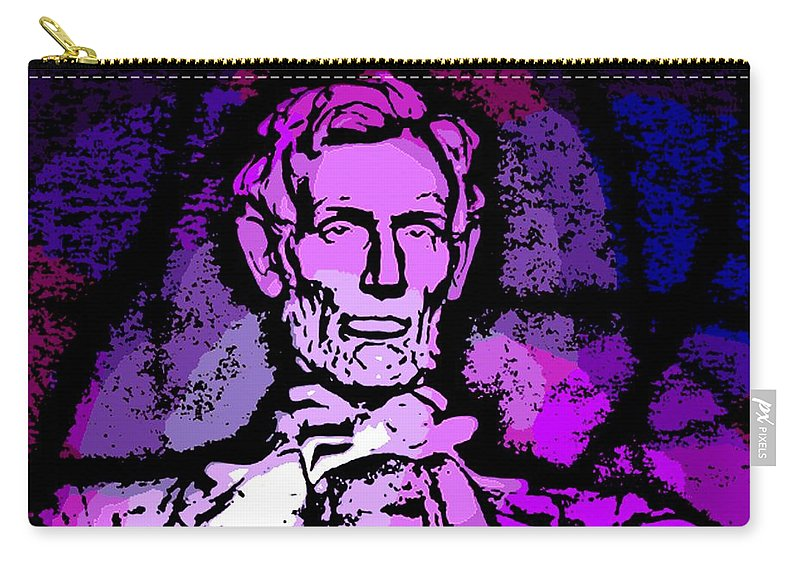 Abe Carry-all Pouch featuring the photograph Purple Lincoln by George Pedro