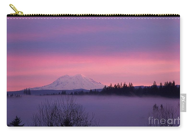 Purple Mountain Majesty Carry-all Pouch featuring the photograph Purple Mountain Majesty by Chalet Roome-Rigdon