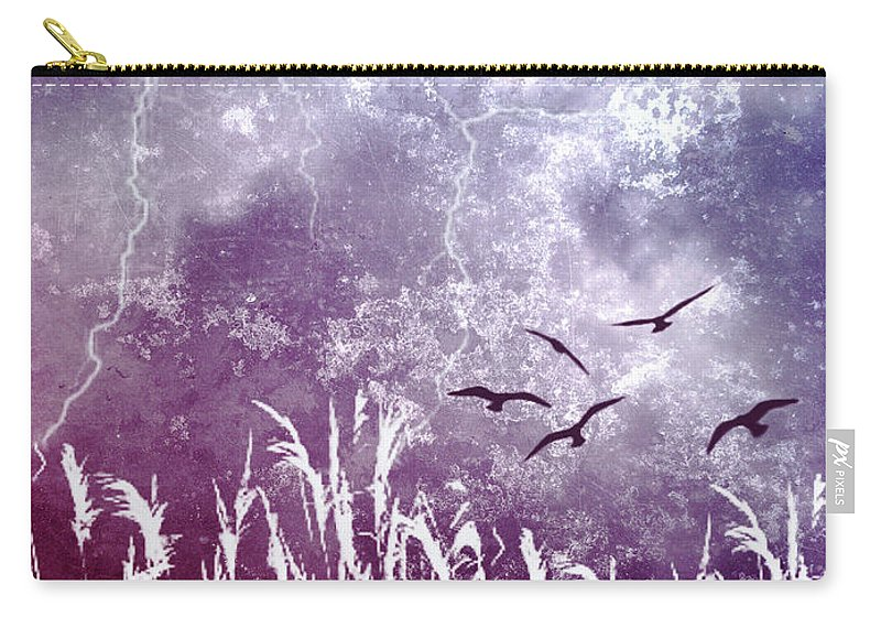 Sky Carry-all Pouch featuring the photograph Purple Skies by Ellen Heaverlo