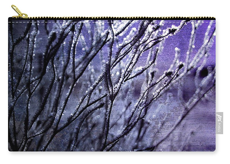 Branches Carry-all Pouch featuring the photograph Purple Sunrise by Ellen Heaverlo