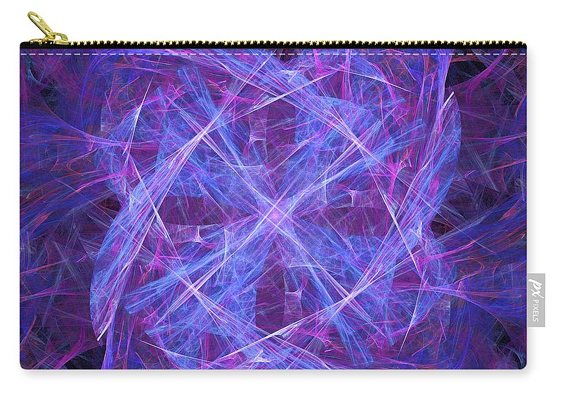 Purple Carry-all Pouch featuring the digital art Purples by Ricky Barnard