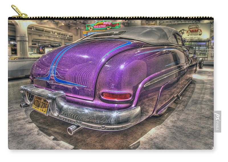 Carry-all Pouch featuring the photograph Purplre Car Dearborn Mi by Nicholas Grunas