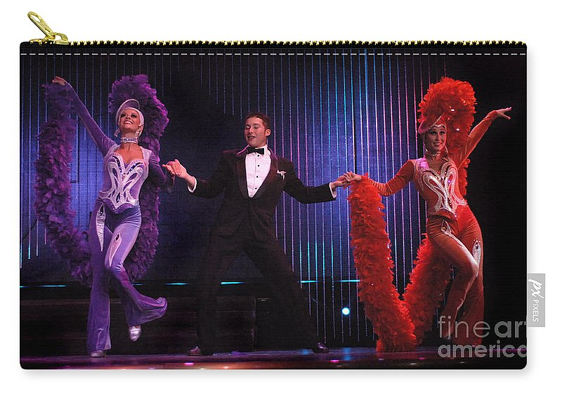 Dance Carry-all Pouch featuring the photograph Putting On The Glitz by Bob Christopher