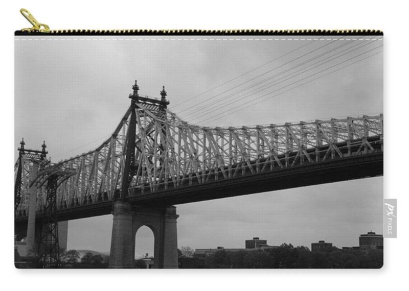 Queensboro Bridge Carry-all Pouch featuring the photograph Queensboro Bridge by Catie Canetti