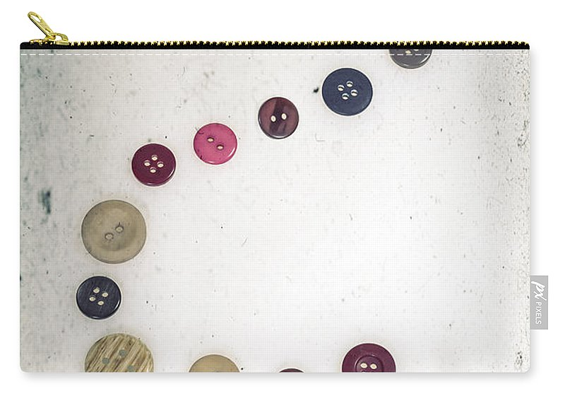 Button Carry-all Pouch featuring the photograph Question Mark by Joana Kruse