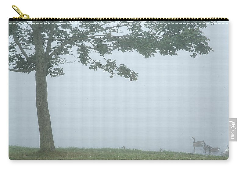 Fog Carry-all Pouch featuring the photograph Quiet Fog Rolling In by Karol Livote