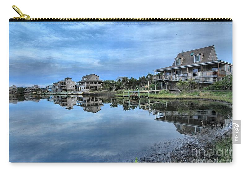 North Carolina Outer Banks Carry-all Pouch featuring the photograph Quiet On The Sound by Adam Jewell