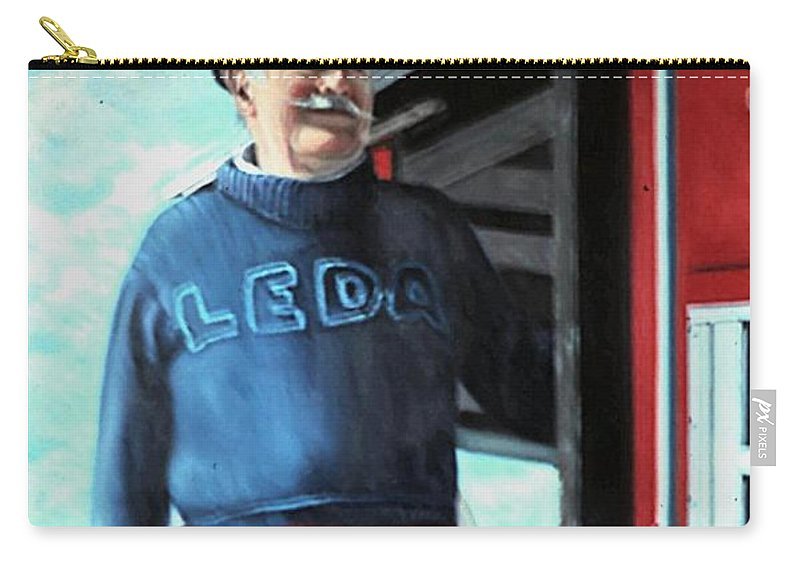 Portrait Carry-all Pouch featuring the painting R. Sylvester Founder Maritime Museum by Michael John Cavanagh