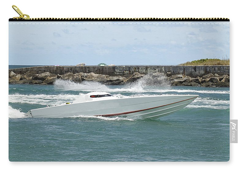 Speed Carry-all Pouch featuring the photograph Race Boat by Rudy Umans