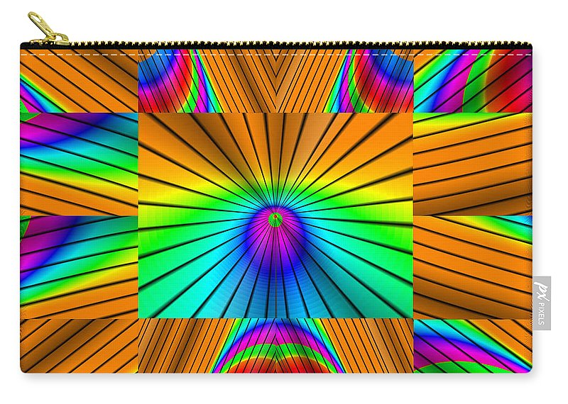 Ultra Fractal Carry-all Pouch featuring the digital art Radiant Rainbow by Mario Carini