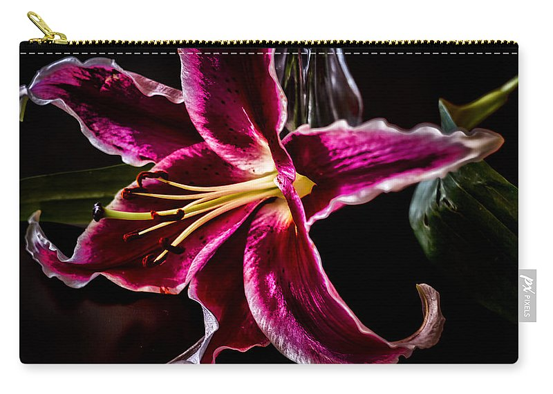 Lily Carry-all Pouch featuring the photograph Radiating Romance by Linda Tiepelman