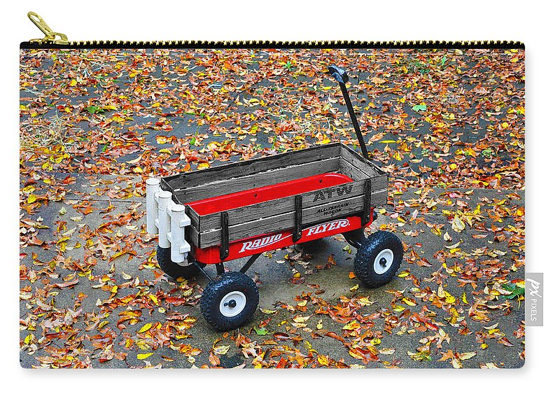 Radio Flyer Carry-all Pouch featuring the photograph Radio Flyer by Bill Cannon