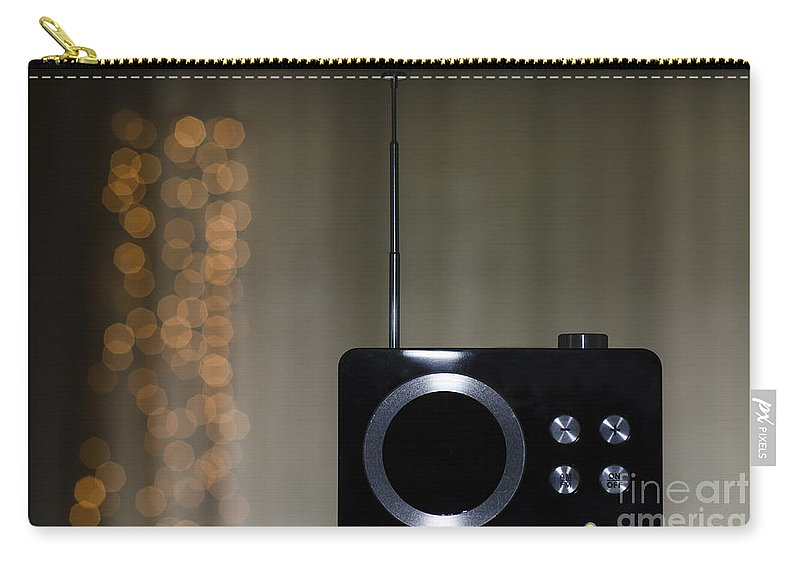 Radio Carry-all Pouch featuring the photograph Radio by Mats Silvan