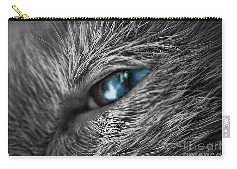 Yhun Suarez Carry-all Pouch featuring the photograph Raging Blue by Yhun Suarez