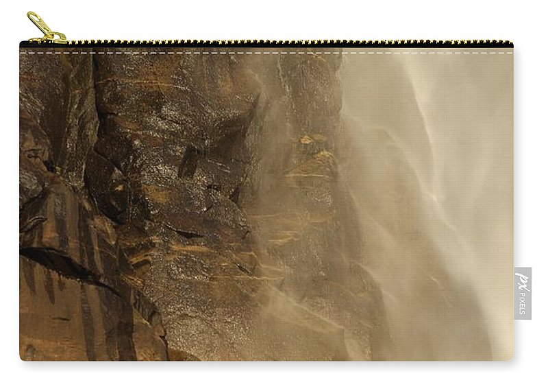 Yosemite National Park Carry-all Pouch featuring the photograph Rainbow On The Rocks by Adam Jewell