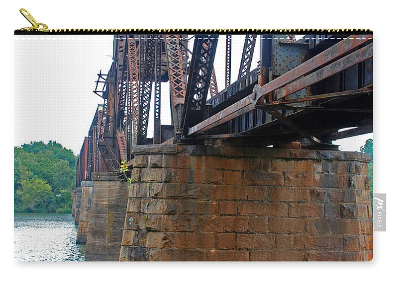 Water Carry-all Pouch featuring the photograph Railroad Bridge 2 by Kay Lovingood