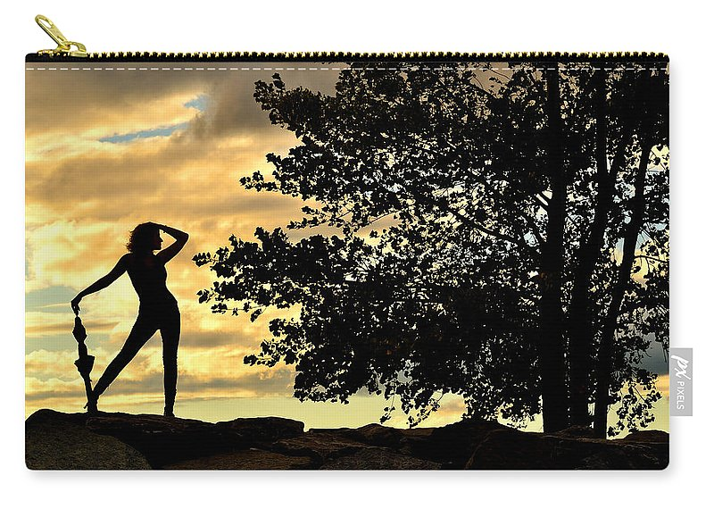 Rain Carry-all Pouch featuring the photograph Rain Dance by Joshua McCullough