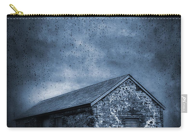 Abandoned Carry-all Pouch featuring the photograph Rain by Svetlana Sewell
