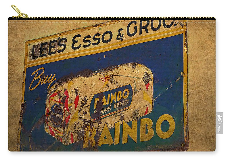 Rainbo Bread Carry-all Pouch featuring the photograph Rainbo Bread by Todd Hostetter