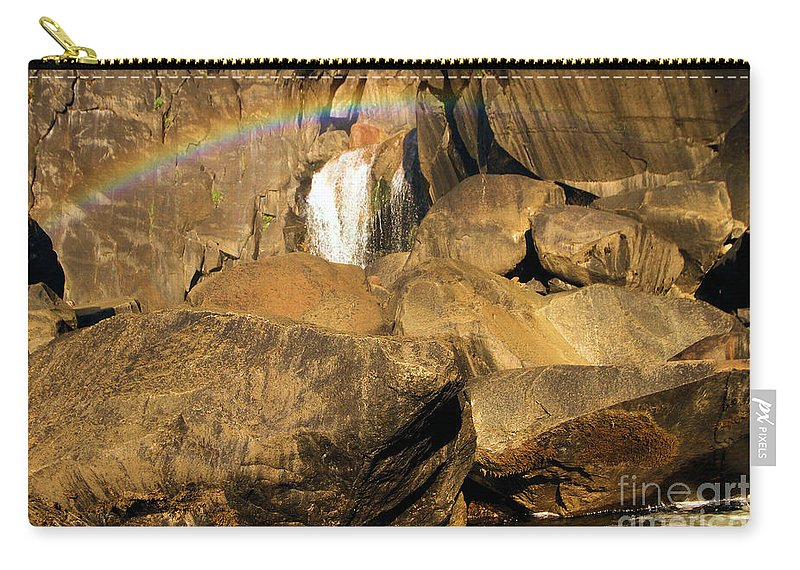 Yosemite National Park Carry-all Pouch featuring the photograph Rainbow At Bridal Veil by Adam Jewell