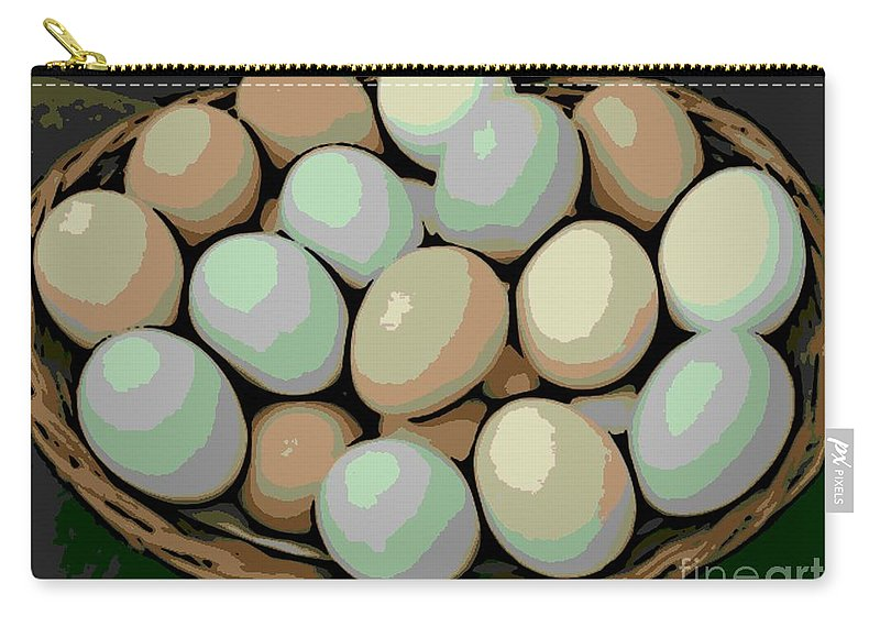 Eggs Carry-all Pouch featuring the photograph Rainbow Eggs by George Pedro